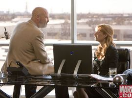 Obadiah Stane and Pepper Potts talk it out