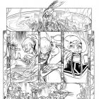 CHAOS WAR: CHAOS KING #1 black and white preview art by Michael Kaluta 3