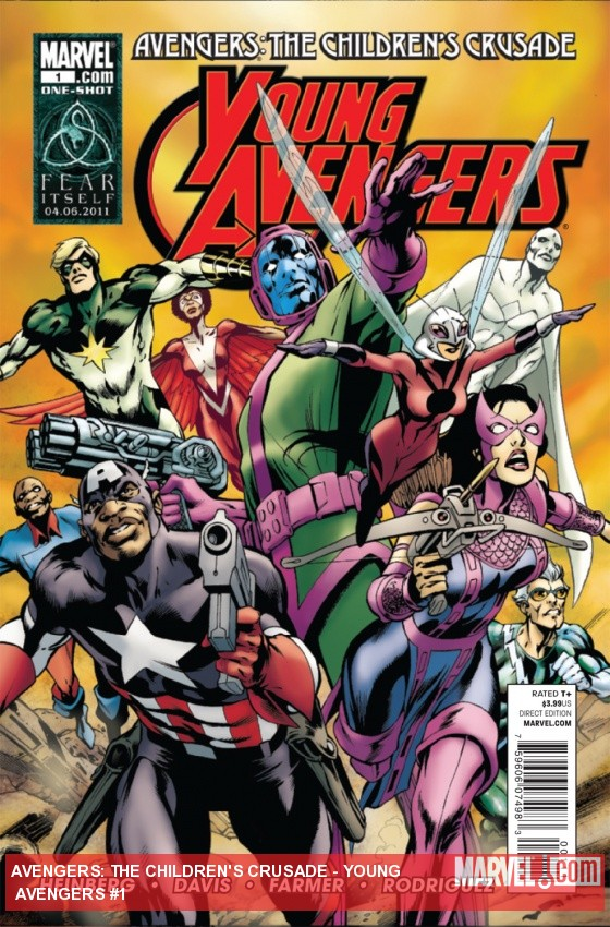 Avengers: The Children's Crusade - Young Avengers (2010) #1 cover by Alan Davis, Mark Farmer & Javier Rodriguez