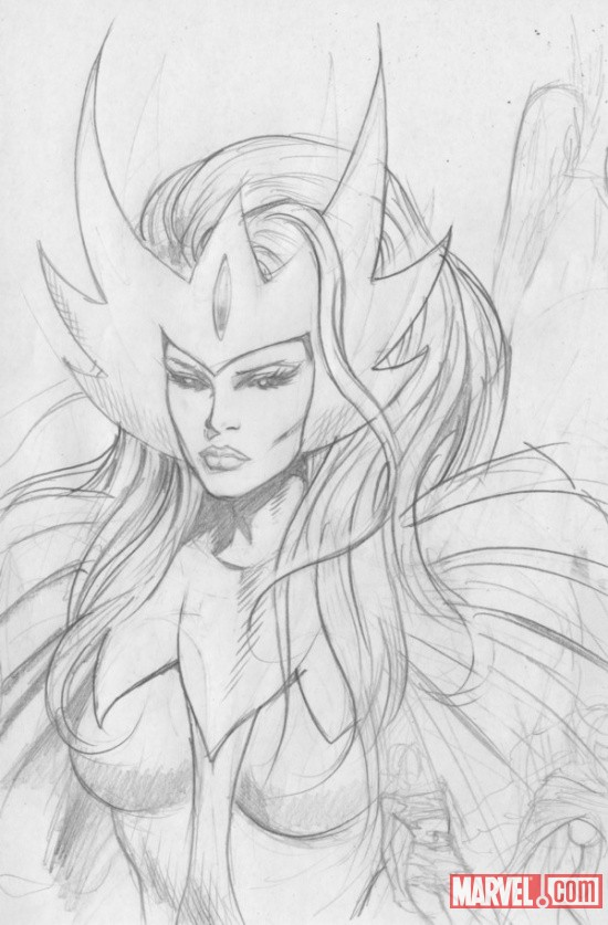 Snowbird sketch by Dale Eaglesham