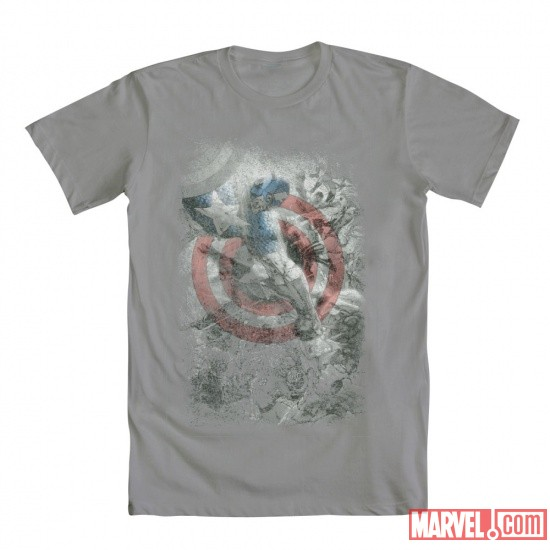 Cap Fight For Freedom Tee by Mighty Fine