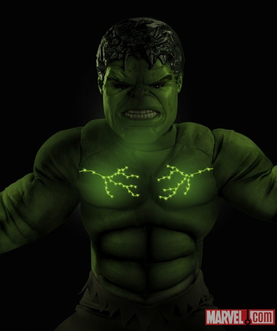 Hulk Avengers Muscle Light Up (Detail)