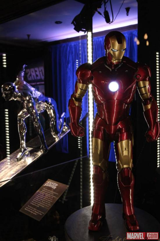 Silver Surfer and Iron Man costumes at the El Capitan Theatre in Hollywood
