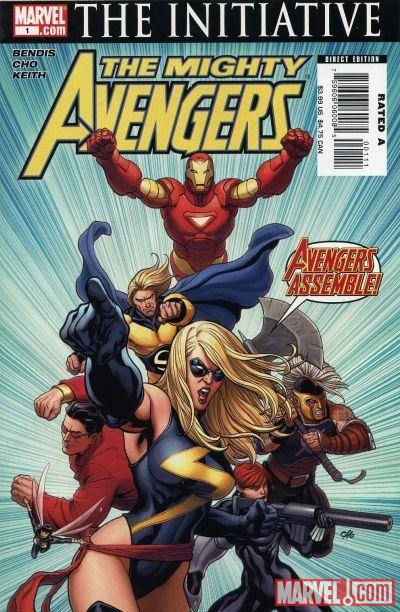 Image Featuring Iron Man, Sentry (Robert Reynolds), Wasp, Wonder Man, Captain Marvel (Carol Danvers), Ares, Avengers
