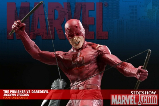 The Punisher vs. Daredevil Modern Version Polystone Diorama from Sideshow Collectibles