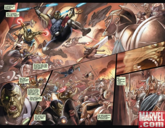 SECRET INVASION: THOR #2, page 2-3