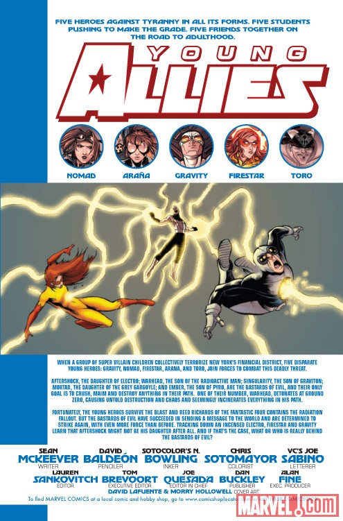 YOUNG ALLIES #3 recap page