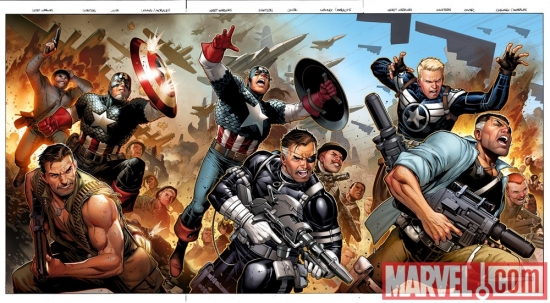 Image Featuring Captain America, Dum Dum Dugan