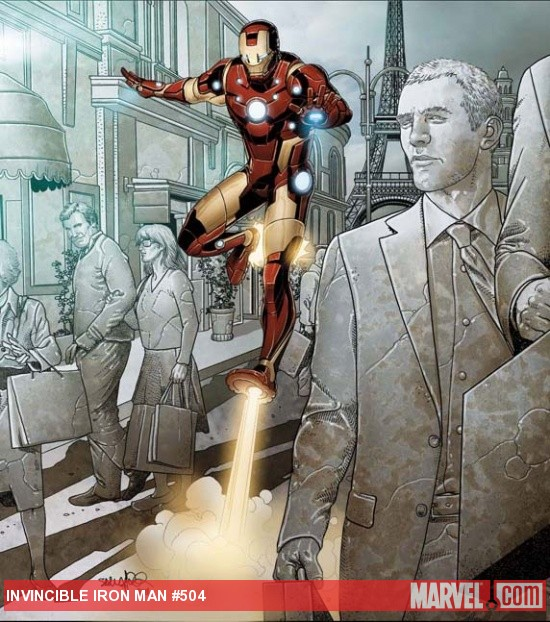 Invincible Iron Man #504 cover by Salvador Larroca