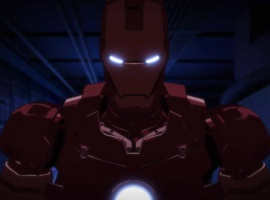 Iron Man powers up in the Iron Man anime