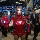 Iron Man on the floor of the NYSE, for the opening bell