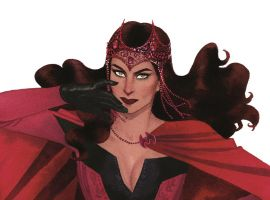 Scarlet Witch promo art by Kevin Wada