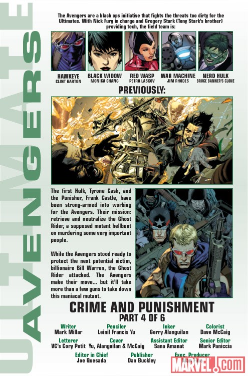 ULTIMATE COMICS AVENGERS 2 #4 recap page
