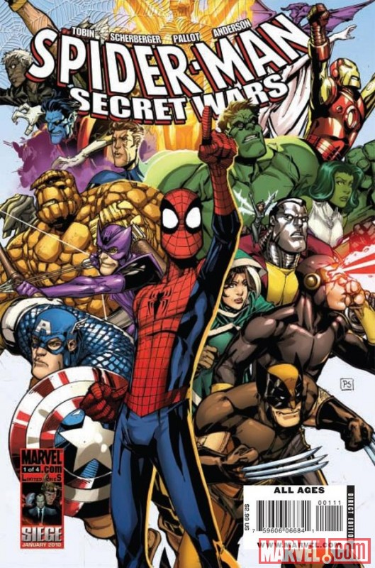 Image Featuring Mr. Fantastic, Nightcrawler, Rogue, She-Hulk (Jennifer Walters), Spider-Man, Captain America, Thing, Colossus, Wasp, Cyclops, Wolverine, Hawkeye, Hulk