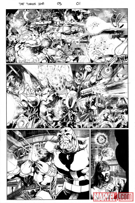 THE THANOS IMPERATIVE #5 black and white preview art by Miguel Sepulveda 1