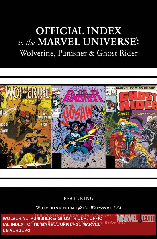 Wolverine, Punisher &amp; Ghost Rider: Official Index to the Marvel Universe Marvel Universe (2011) #2