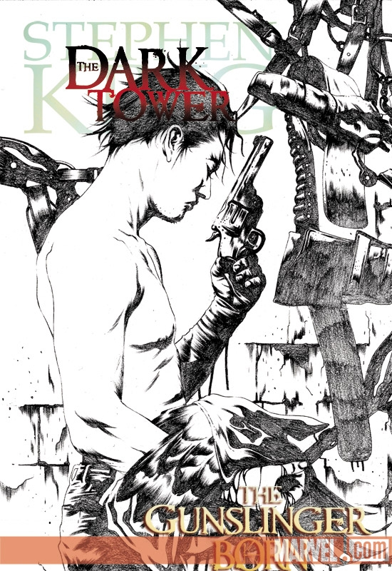 DARK TOWER: THE GUNSLINGER BORN (2008) #1 (JAE LEE SKETCH VARIANT) COVER