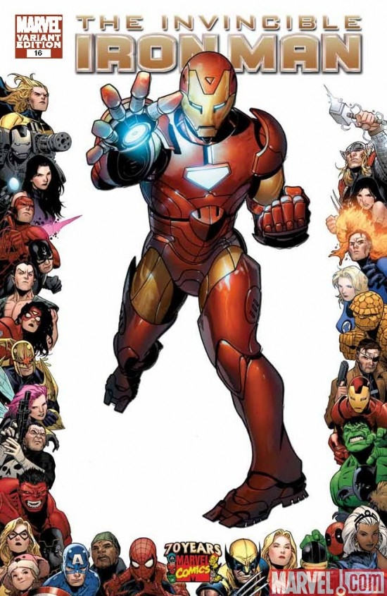 INVINCIBLE IRON MAN #16 cover by Salvador Larroca