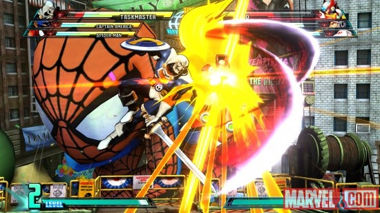 Marvel vs. Capcom 3 screenshot: Taskmaster vs. Zero