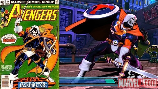 Marvel vs. Capcom 3 alternate costume: Avengers Taskmaster