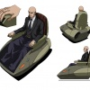 Final color art for Professor X from the X-Men Anime series