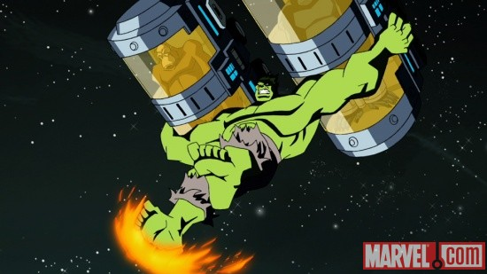 Screenshot of Hulk from The Avengers: Earth's Mightiest Heroes!