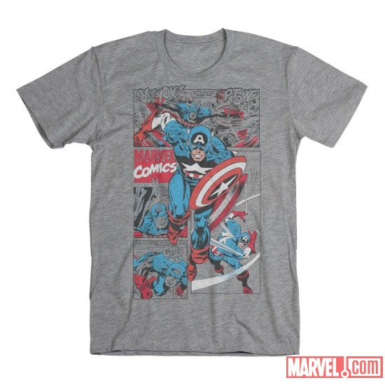 Captain America Comic Tee by Mighty Fine