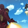 Screenshot of Iron Man and Ramon Zero in Iron Man anime