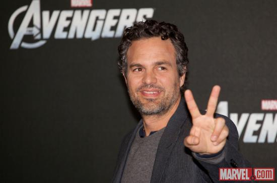Mark Ruffalo (Hulk) at the premiere of Marvel's The Avengers in Berlin