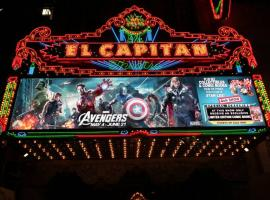 El Capitan Theatre's marquee during the midnight screening of Marvel's The Avengers