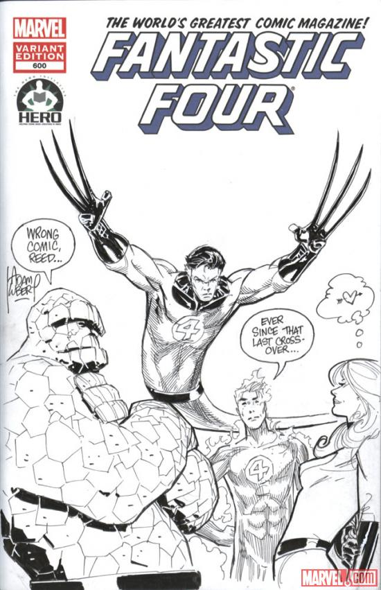 Fantastic Four #600 Hero Initiative variant cover by Adam Kubert