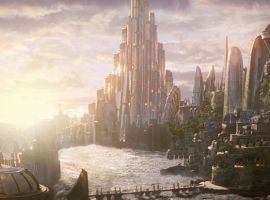 Thor's home, Asgard, in Marvel's Thor: The Dark World