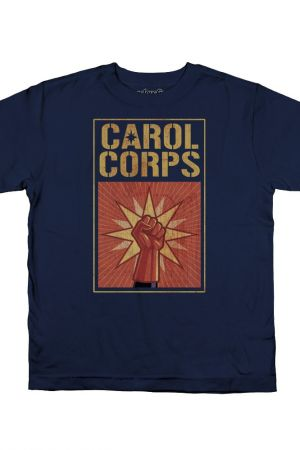 """Carol Corps"" WeLoveFine tee art directed by Kelly Sue DeConnick"