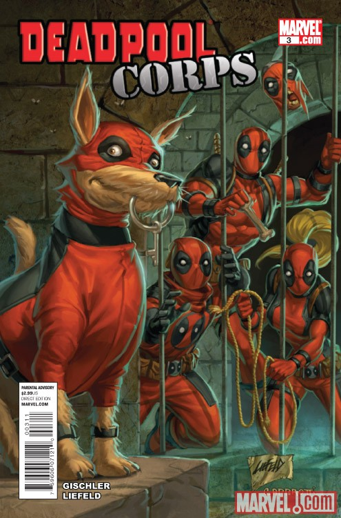 DEADPOOL CORPS #3 cover by Rob Liefeld