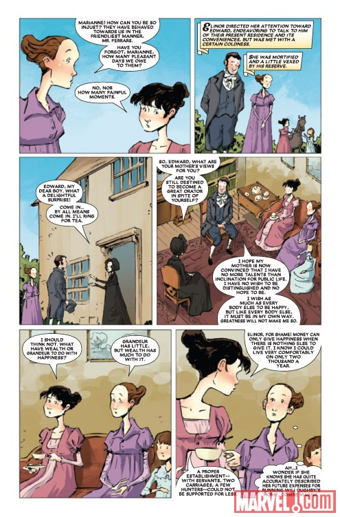 SENSE & SENSIBILITY #3 preview art by Sonny Liew