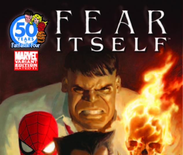 Fear Itself #1 FF Anniversary variant cover by Paolo Rivera