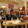 Artist Todd Nauck with the Williams-Sonoma Crew