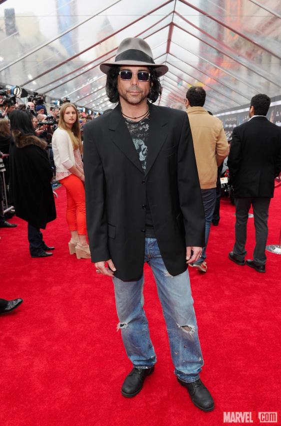 Richard Grieco on the Avengers red carpet
