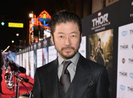 Tadanobu Asano (Hogun) at the red carpet premiere of Marvel's Thor: The Dark World in Los Angeles