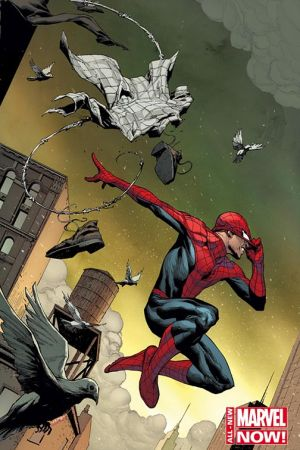 Amazing Spider-Man (2014) #1 variant cover by Jerome Opena