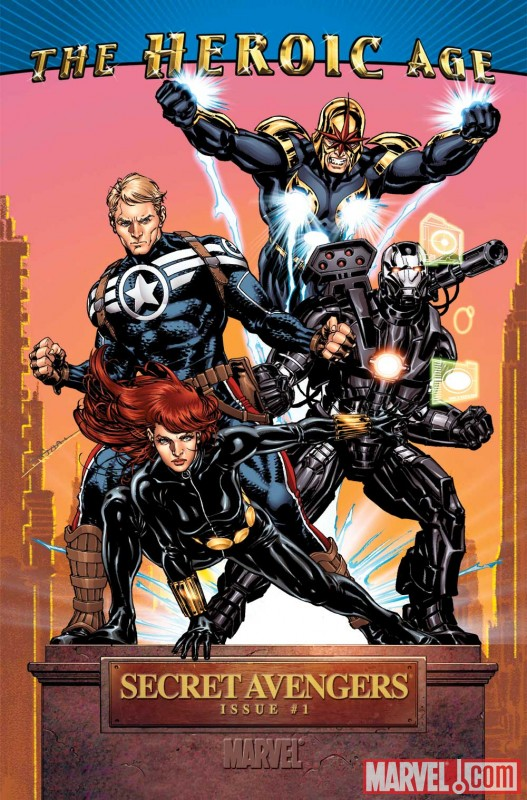 Image Featuring Captain America, Nova, War Machine (James Rhodes), Avengers