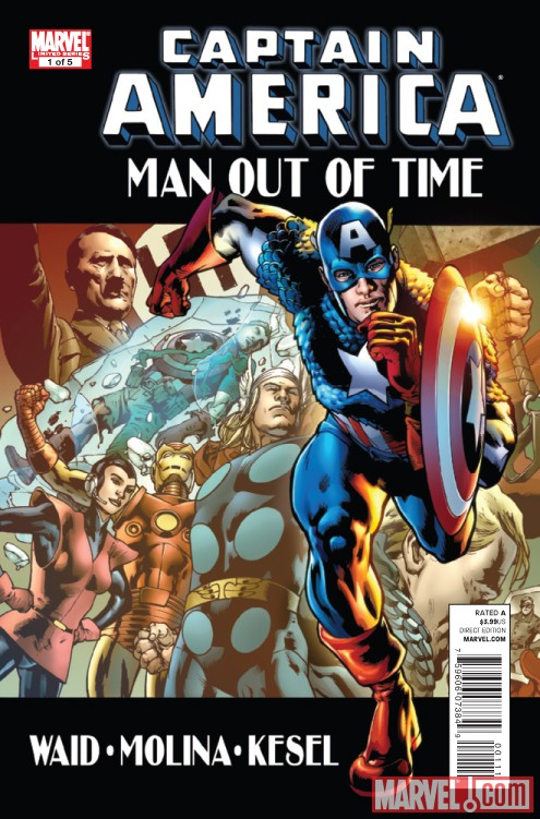 CAPTAIN AMERICA: MAN OUT OF TIME #1 cover by Bryan Hitch