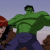 Hulk vs. Hawkeye and the Black Widow from The Avengers: Earth's Mightiest Heroes!