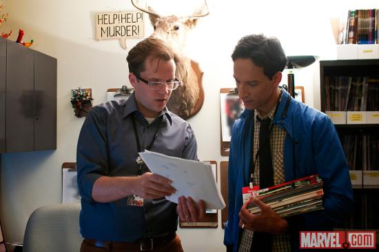 Marvel Comics Senior editor Nick Lowe and Danny Pudi