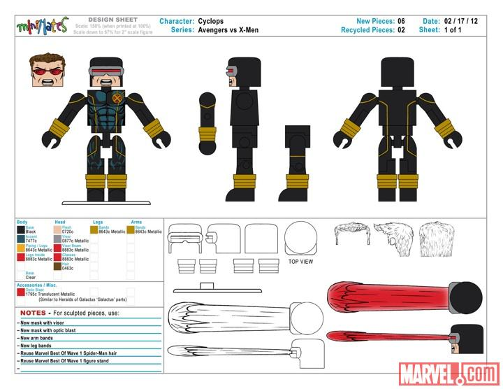 Diamond Select Toys Cyclops Concept Art