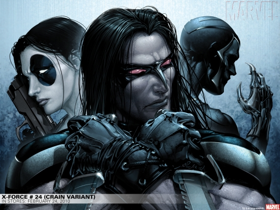 X-Force #24 crain variant cover by Clayton Crain
