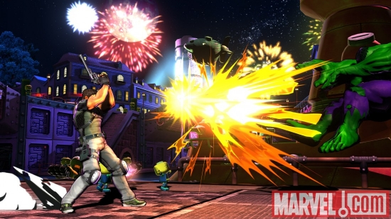 Hulk vs. Chris Redfield in Marvel vs. Capcom 3