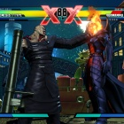 Screenshot of Nemesis vs. Dormammu from Ultimate Marvel vs. Capcom 3