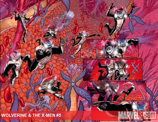 Wolverine &amp; The X-Men #5 preview art by Nick Bradshaw