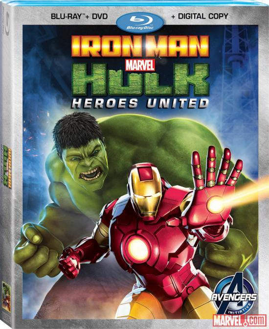 Marvel's Iron Man & Hulk: Heroes United Blu-ray box art